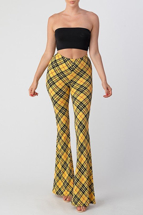 yellow plaid bell bottoms