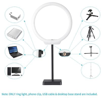 Phone Video Ring Light for Selfie, youtube, vlogging