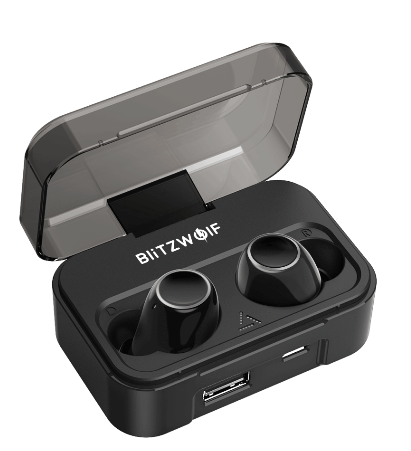 Waterproof Wireless Earbuds Blitzwolf® Bluetooth Noise Cancelling In Ear Headphones with Charging Case