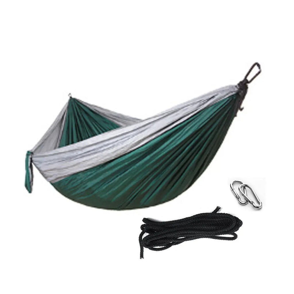HomeTrendz™ Tree Hammock Single/Double Portable Hammocks with Tree Straps, Lightweight Nylon Parachute Hammocks for Beach, Backyard, Patio, Hiking,Travel