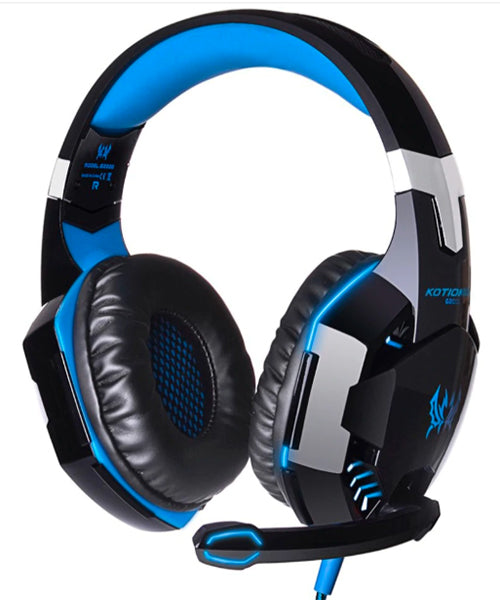 Wired Gaming Headset with Lights, for Xbox One, PS4, Switch, PC, Laptop, Bass Stero Surround, Noise Cancelling Over Ear Headphones with Mic