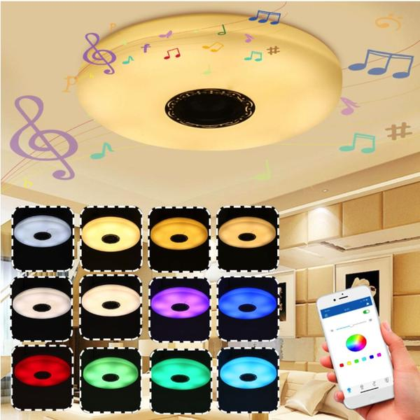 RadiantX™ Smart Bluetooth Dimmable LED Ceiling Music Speaker Light