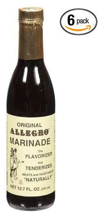 Allegro Original Marinade 6 packs (6x12.7 Oz) Marinade for Meat Chicken, Steak, Pork, Salmon and Vegetables