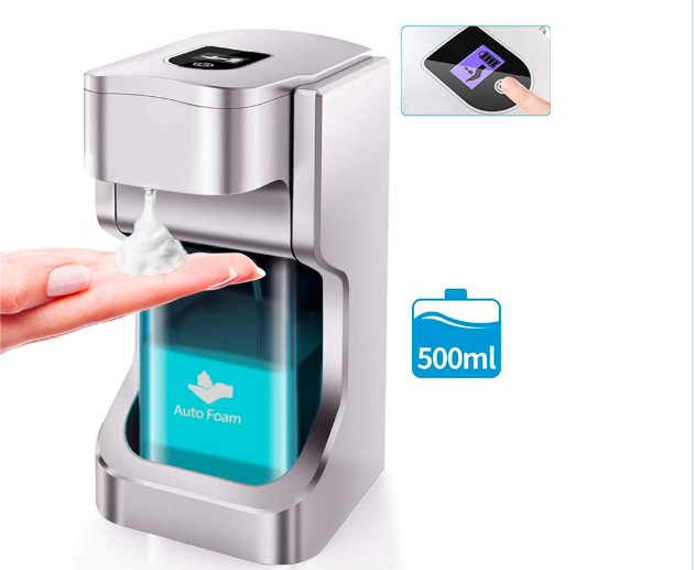 Automatic Foam Dispenser for Hand Sanitizer and Soap Touchless - Wall Mount, Counter Top