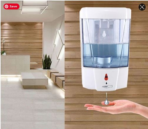 Touchless Automatic Hand Sanitizer and Soap Dispenser Wall Mounted - Wholesale