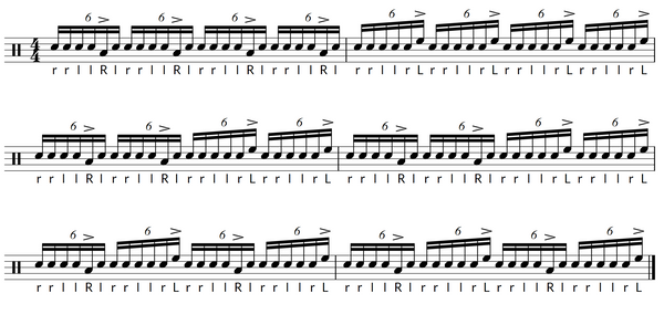Paradiddle diddle exercise 3