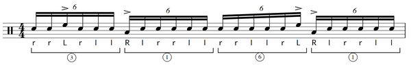 Paradiddle diddle exercise 4