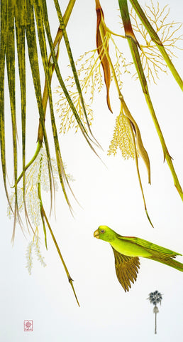 Parrot and Washingtonian Palm
