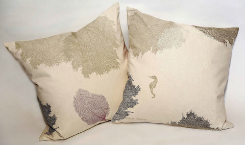 Sea Fans / Seahorse Pillows