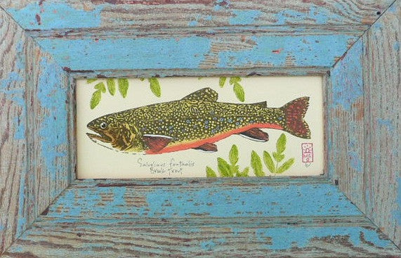 Brook Trout Wood Framed Print