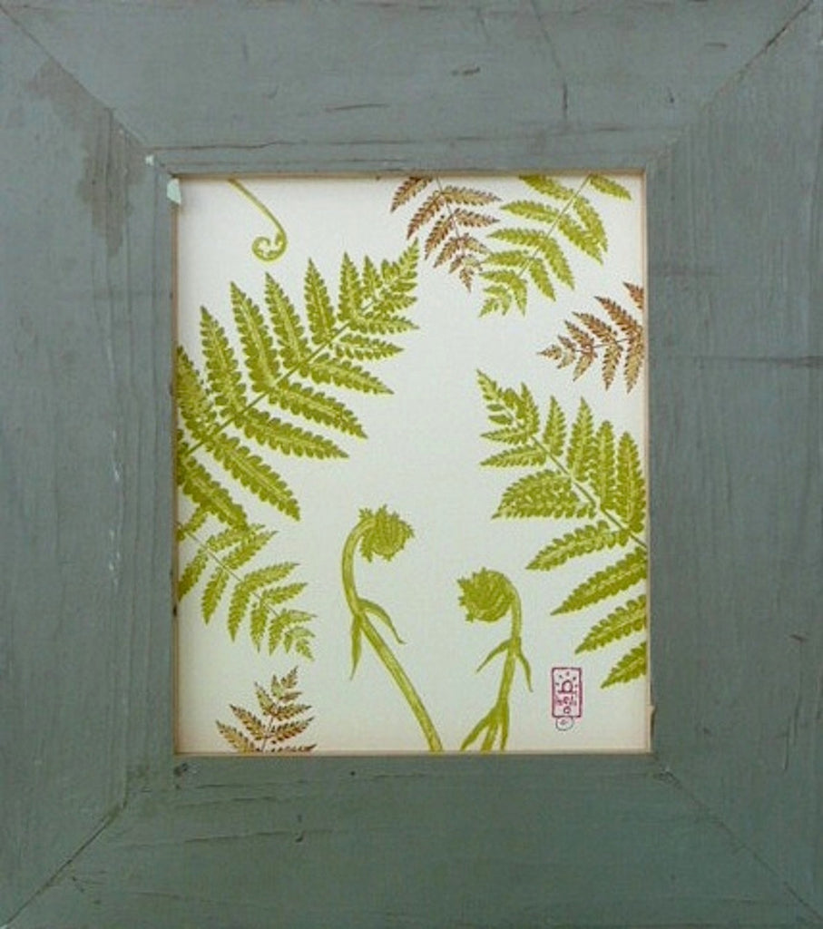 Ferns and Fiddleheads Wood Framed Print