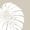 Fabric: Tropical Monstera leaves - white on sand
