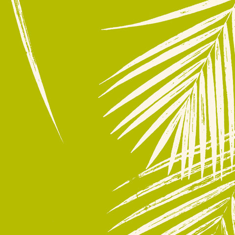 Fabric: Tropical Palm leaves - ivory on chartreuse