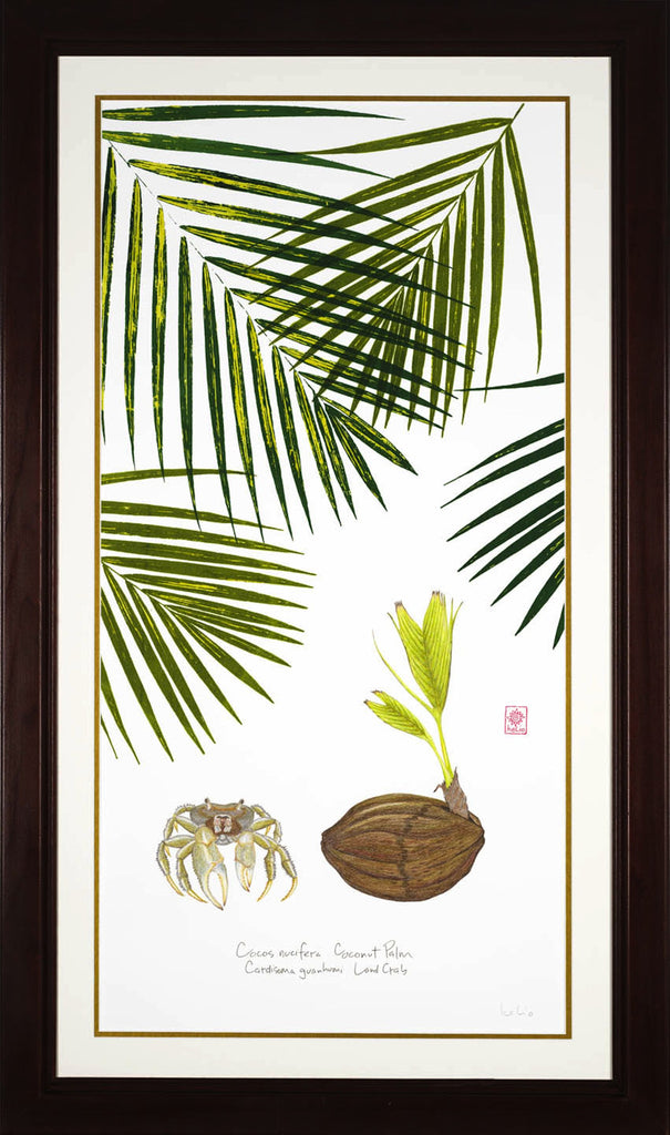 Land Crab, Coconut Sprout and Palms