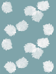 Fabric: Sea fans - white on antique blue