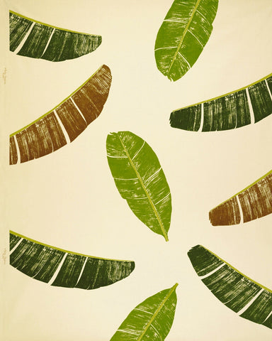 Banana Leaf Print Fabric