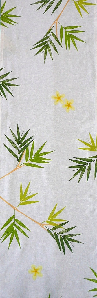 Bamboo and Frangipani Table Runner