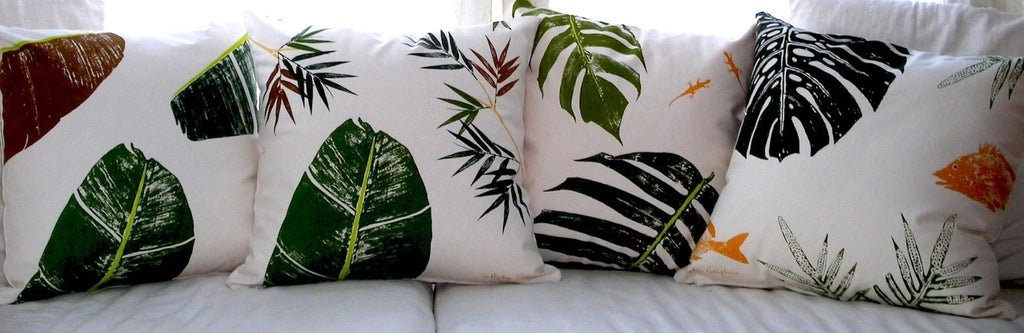Tropical Botanical Pillows