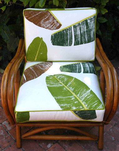 Banana Leaf Print Chair Cover