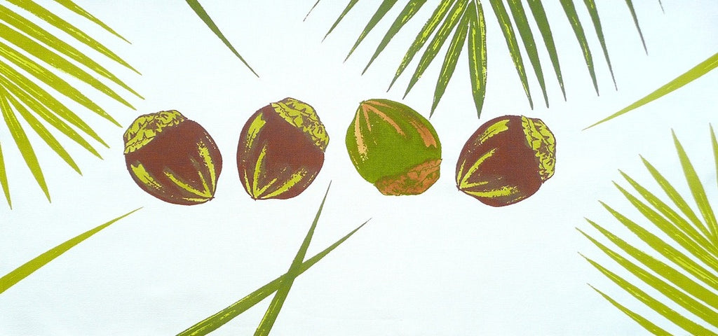 Coconuts and Palm Pillow Cover