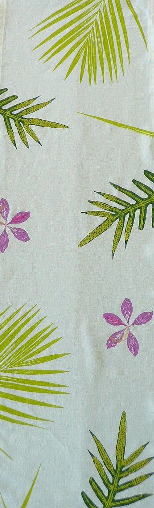 Handprinted Table Linens: Ferns, Palms and Orchids