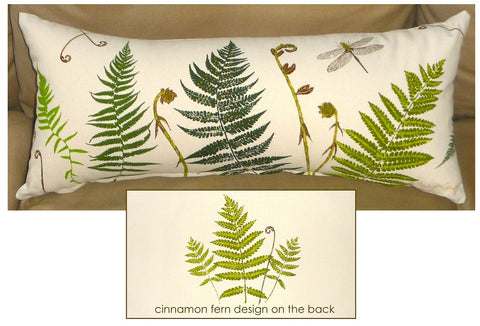 Fabulous Ferns and Fiddleheads Pillow Cover