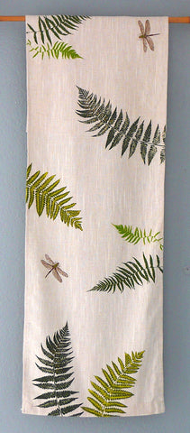 Ferns and Dragonflies ~ Table Runner