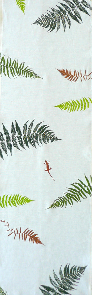 Ferns and Salamander Table Runner