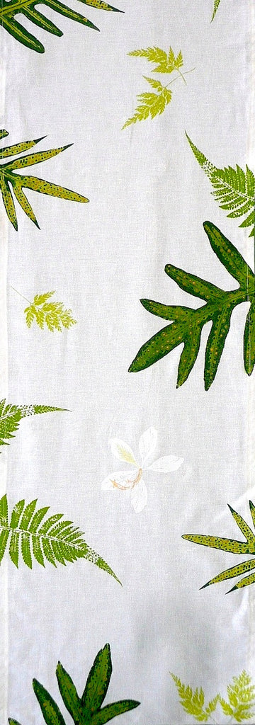 Handprinted Table Linens ~ Tropical Ferns and Orchids