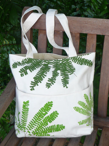 maidenhair fern tote