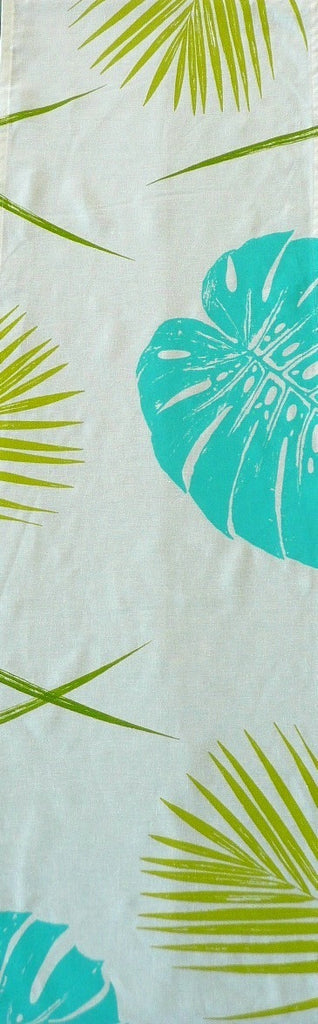 Monstera and Palm Table Runner
