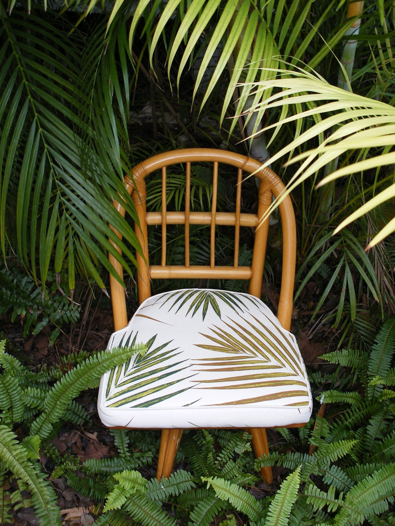 Palm fabric chair covers