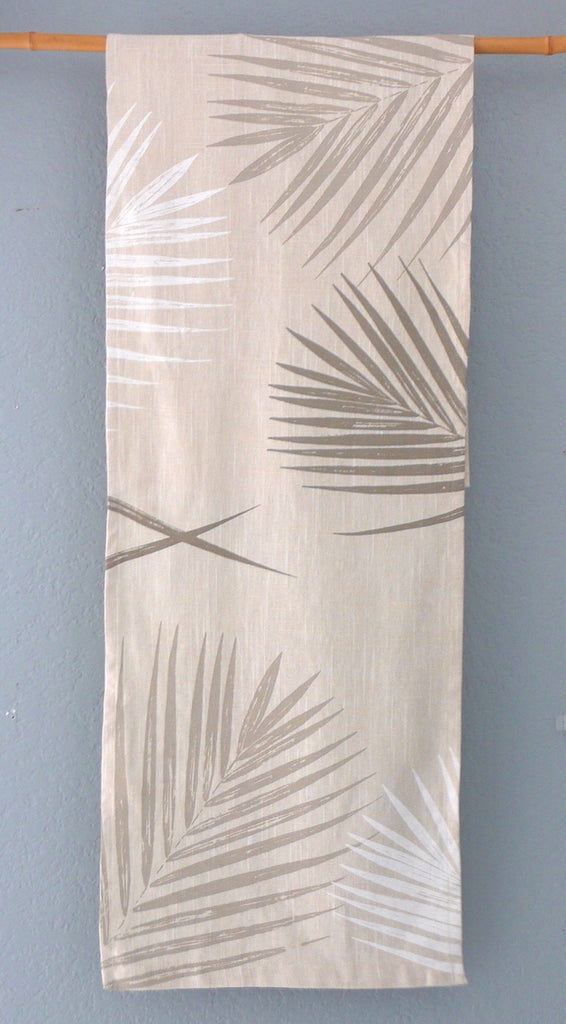 Elegant Palms ~ Linen Table Runner
