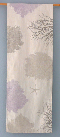 Sea fans Coral and Starfish ~ Linen Table Runner