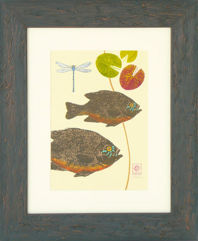 Sunfish and Water lilies: center print