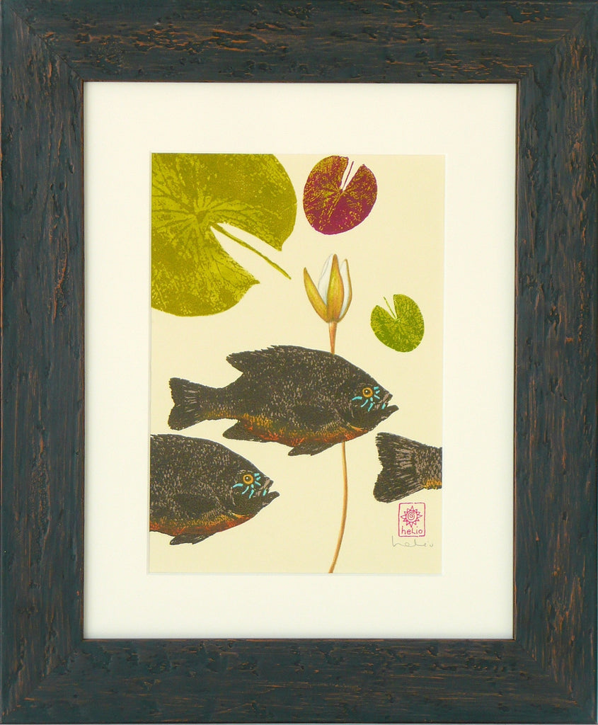 Sunfish and Water lilies: left print