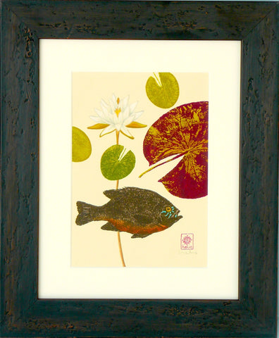 Sunfish and Water lilies: right print