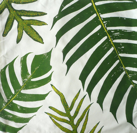 Tonga leaves and Tropical ferns Pillow Cover