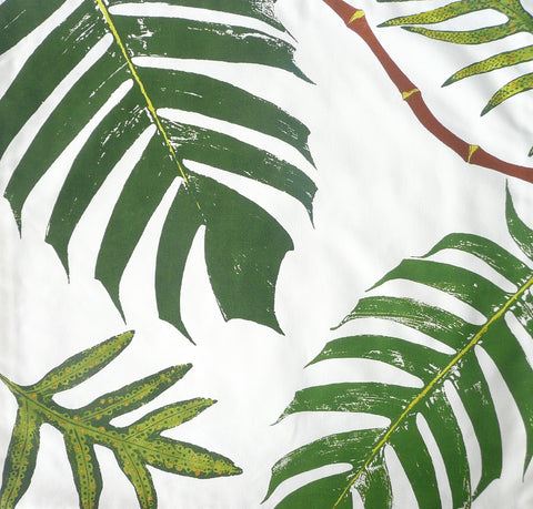 Tonga vine and Tropical ferns Pillow Cover
