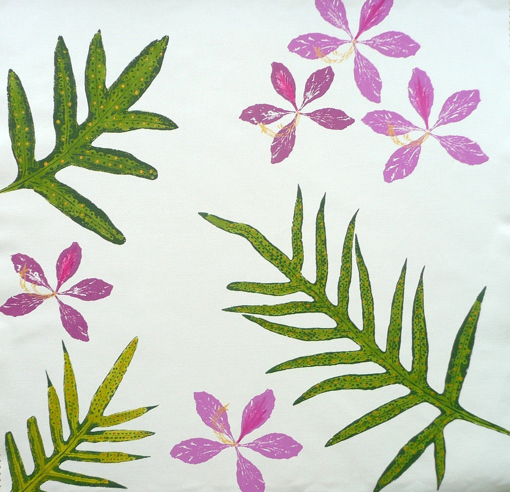 Orchids and Tropical Ferns Pillow Cover