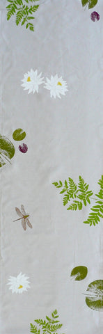 Water lily, Fern and Dragonfly Table Runner