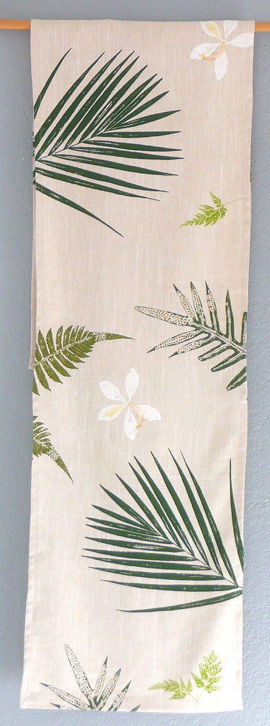 Handprinted Table Linens ~ Orchids, Palms and Ferns