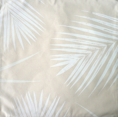 White Palms Pillow Cover