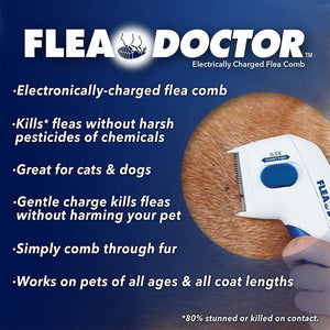 Flea & Tick Comb for Cats and Dogs