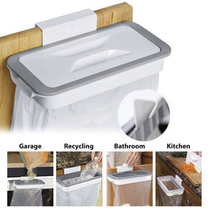 Hirundo Kitchen Portable Plastic Trash Bag Holder/Cabinet Door Mounted Hanging Trash Bag