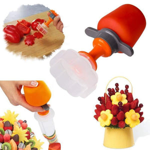 Pop Chef Fruit And Vegetable Shape Cutter As Seen On TV - Easy Decorative Food Cutting Tools