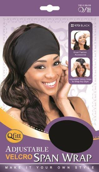 Qfitt Adjustable Velcro Satin Wrap Open Top Black