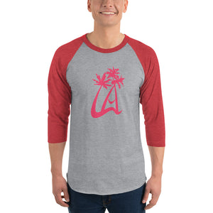LAPT 3/4 Sleeve Red Baseball T