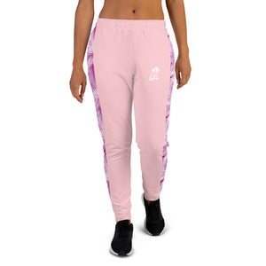 LAPT Women's Joggers PINK ROSE PALM