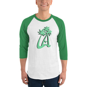 LAPT 3/4 Sleeve Green Baseball T